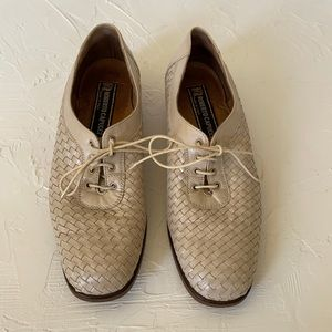Vintage Roberto Capucci Woven Leather Loafers